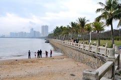 Datou Zhou Sandy beach Royalty Free Stock Photography
