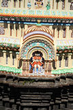 Dattatreya Temple. A beautiful idol of lord dattatreya also known as gurudatta or dattaguru, on an ancient temple dome Stock Photos
