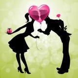 Datte de jour de Valentins Images libres de droits