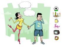 Datte ennuyeuse illustration stock