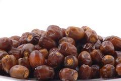 Dattel-Früchte in einer Platte Lizenzfreies Stockbild