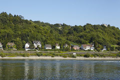 Dattenberg (Germany) - Some houses at the Rhine river. Some houses along the riverside of the Rhine at Dattenberg (Germany, Rhineland Palatinate, administrative stock images