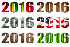Datum 2016 lizenzfreies stockbild