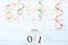 Datum April 1 royaltyfria bilder