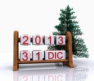 31 december, 2013 Royalty-vrije Stock Afbeelding