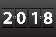 Datum för nytt år 2018 för illustration royaltyfri illustrationer