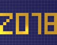Datum 2018 Komend nieuw jaar Stock Afbeeldingen