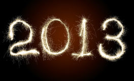 Datum-neues Jahr 2013 Stockfotografie