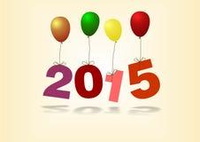 Datum och ballonger för nytt år royaltyfri illustrationer