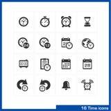 Datum- och tidssymbolsuppsättning royaltyfri illustrationer