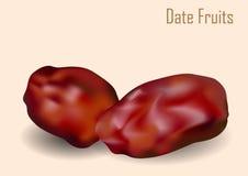 Datum trägt Vektor-Illustration Früchte Lizenzfreie Stockfotografie