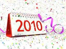 Datum van Nieuwjaar 2010 Stock Afbeeldingen