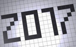 Datum von 2017 Stockfotografie