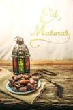 Datumet gömma i handflatan frukt eller kurmaen, ramadan mat, bildtappningstil Royaltyfri Fotografi