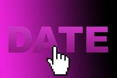 datummärkninginternet Fotografering för Bildbyråer