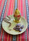 Daty i islamska lampa obraz royalty free