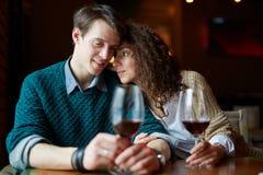 Daty w restauraci zdjęcia royalty free