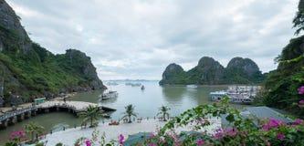 Dau去海岛,下龙湾,广宁省,越南 免版税图库摄影