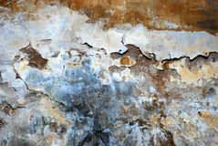Daub ornament. The colourful ornament of chapped daub. An old wall texture Royalty Free Stock Photos