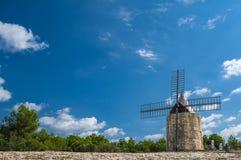 Daudet的风车- Fontvielle (法国) 图库摄影