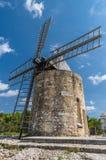 Daudet的风车- Fontvielle (法国) 免版税图库摄影