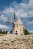 Daudet的风车- Fontvielle (法国) 免版税库存照片