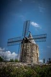 Daudet的风车- Fontvielle (法国) 免版税库存图片
