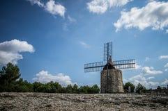 Daudet的风车- Fontvielle (法国) 库存照片