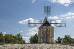 Daudet's windmill - Fontvielle (France) Royalty Free Stock Photos