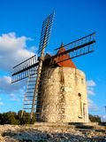 Daudet's windmill, France Royalty Free Stock Photos