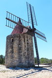 Daudet's windmill San Peter in France Stock Photo