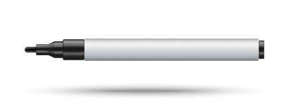 Dauerhaftes Markierungsmodell lokalisiert auf weißem Hintergrund Stockbilder