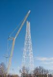 DAUERWELLE, RUSSLAND - Feb, 06 Bau 2016 von neue Kommunikationen stockfotografie