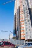 Dauerwelle, Russland - 31. März 2016: Bau eines neuen Hauses Stockfotos