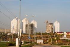 Dauerwelle, Russland - 26. September 2016: Bau von neuen Häusern Lizenzfreie Stockfotos