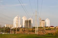 Dauerwelle, Russland - 26. September 2016: Bau von neuen Häusern Stockfotos