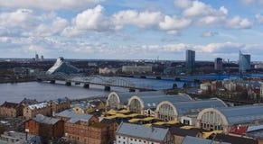 Daugava do rio Imagens de Stock Royalty Free