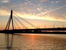 Daugava hermoso del río Fotos de archivo