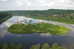 Daugava. Island in the river Daugava stock photos
