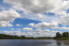 Daugava river, Latvia. Stock Photo