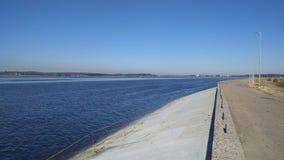 Daugava River. Near Hydro Electric Power Plant stock photo
