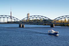 Daugava river in Riga Royalty Free Stock Image
