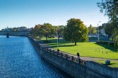 Daugava river in Riga Stock Image
