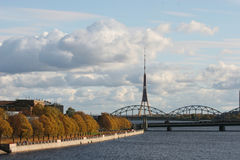 Daugava riverbank Stock Photo