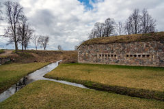 Daugavpils fortress and small river around it Stock Images