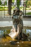 Daugavpils, Latvia. September 3, 2013: Fountain in the form of a little girl Royalty Free Stock Image