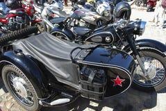 Daugavpils/Lettonia - 5 maggio 2018: Riunione annuale dei motociclisti dai paesi baltici nel Daugavpils Immagini Stock