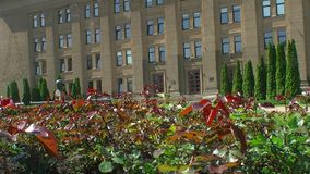 Daugavpils University of Latvia stock video footage