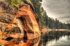 Daugenu piaskowa falezy Obraz Stock