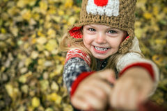 Daugher smile in camera Royalty Free Stock Images